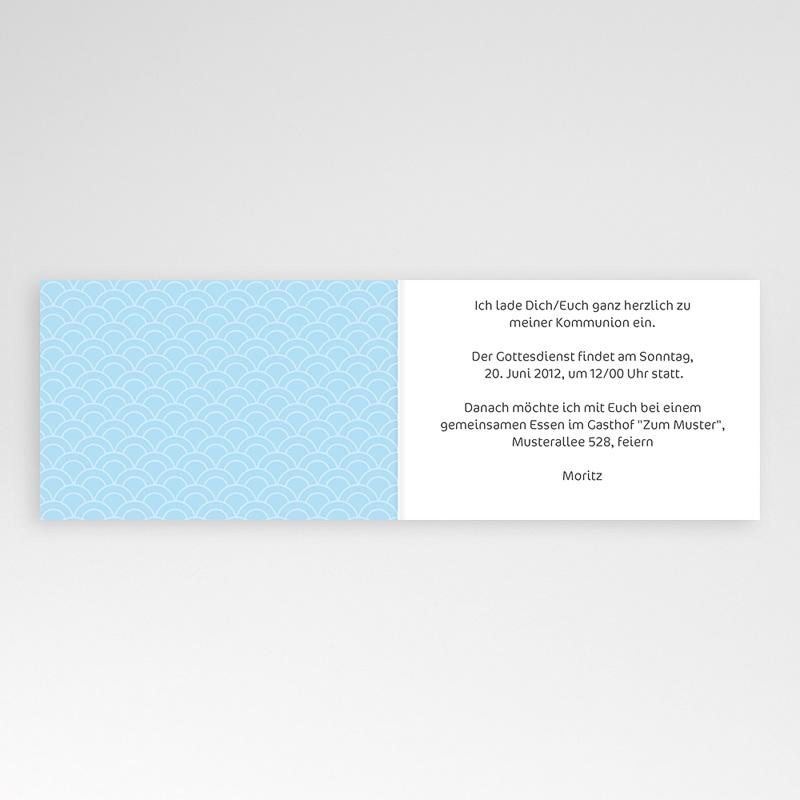 Einladungskarten Kommunion Jungen - Elegantes Kreuz 8405 thumb