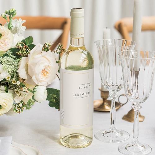 Wein Flaschenetiketten Hochzeit Golden Frame