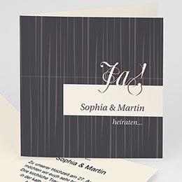 Karten Hochzeit Beige schwarz