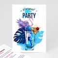 Erwachsener Einladungskarten Geburtstag 40 Jahre, Cocktail, Relieflack