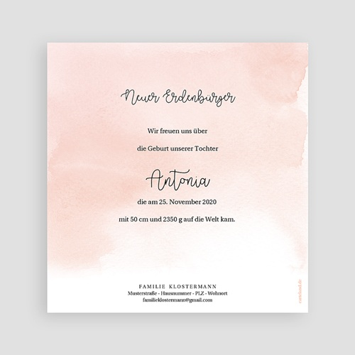 Geburtskarten für Mädchen Kleine Fußstapfen, Goldprägung pas cher