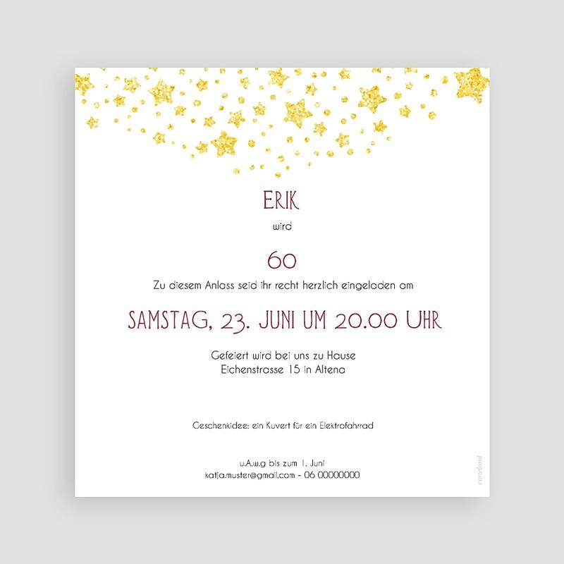 60 Jahre Alt Einladungskarten Geburtstag 60 Jahre, Relieflack, 14.5 x 15 cm pas cher
