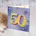 50 Jahre Alt Einladungskarten Geburtstag 50 Jahre, Relieflack, Klappkarte, Quadratisch