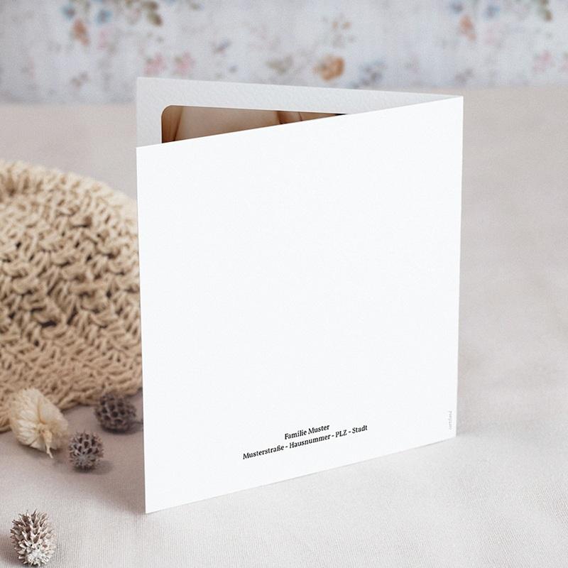 Geburtskarten Multifotos, Quadrat, Klappkarte gratuit
