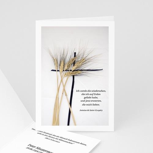 Trauer Danksagung christlich - Leben und Tod 8460