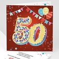 Erwachsener Einladungskarten Geburtstag Circus, 50 jahre, Foto, Klappkarte