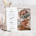 Geburtskarten für Jungen Goldzweig, 2 Fotos