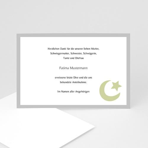 Muslimisch Dankeskarten Trauer Dhakkir - Grün