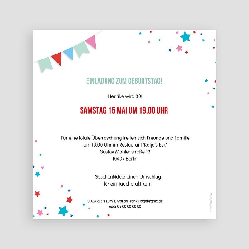30 Jahre Alt Einladungskarten Geburtstag Zirkus, Relieflack, Quadrat, 30 Jahre pas cher