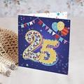 20 Jahre Alt Einladungskarten Geburtstag Zirkus, 25 Jahre, Relieflack, Klappkarte