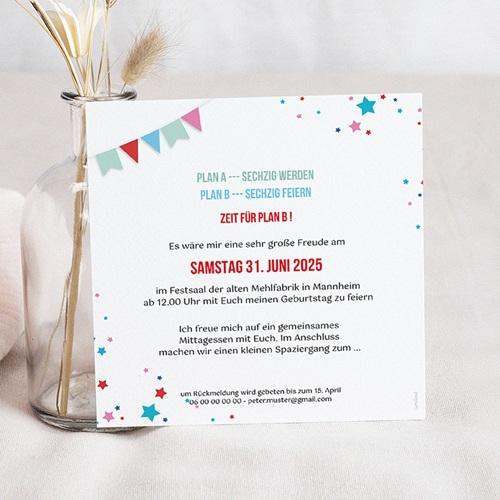 60 Jahre Alt Einladungskarten Geburtstag Zirkus, Relieflack, 60 Jahre, Quadrat pas cher