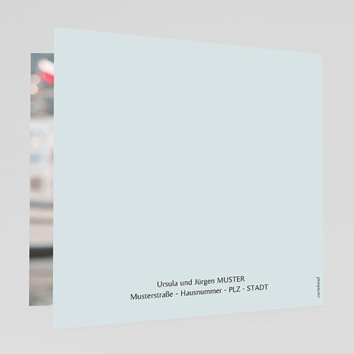 Einladungskarten Taufe für Mädchen Blütenmedaillon, blaugrau, 14 x 14 gratuit