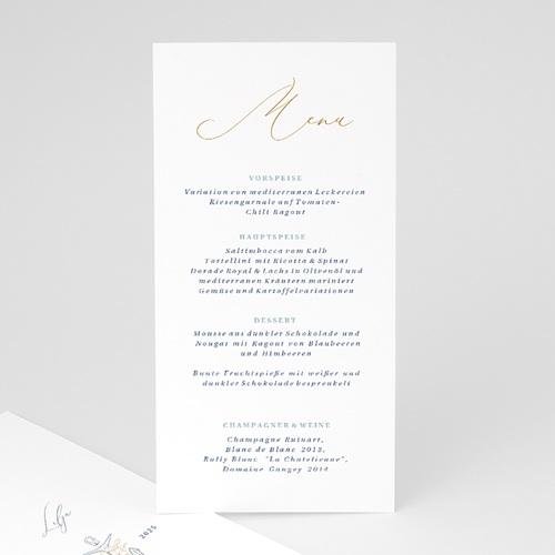 Menükarten Hochzeit Hochzeit am Meer 21 x 10 cm