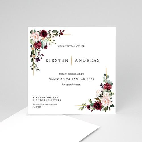 Change The Date Hochzeitskarten Marsala Krone
