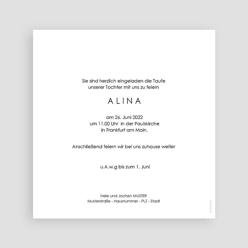 Einladungskarten Taufe für Mädchen Medaillon, Goldenes Kreuz, 14,5 x 15 cm pas cher