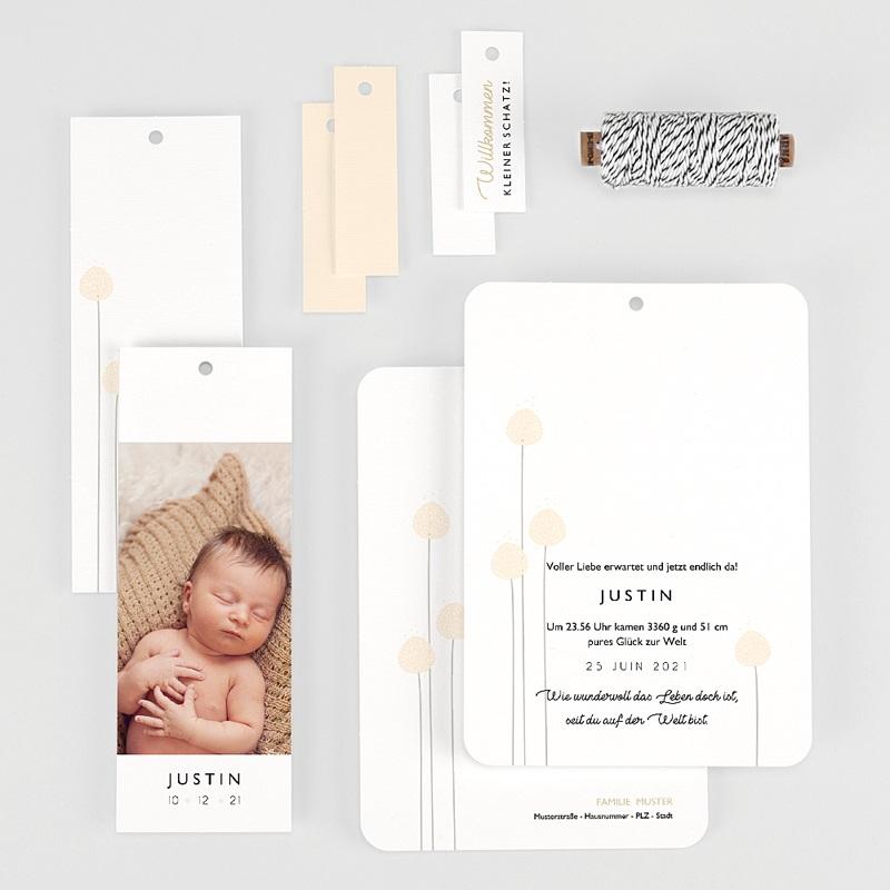 Geburtskarten für Jungen Knospe, 3 Etiketten, 1 Foto gratuit