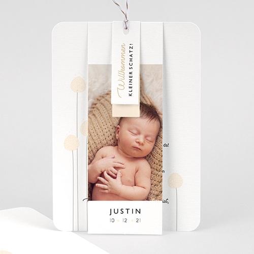 Geburtskarten für Jungen Knospe, 3 Etiketten, 1 Foto