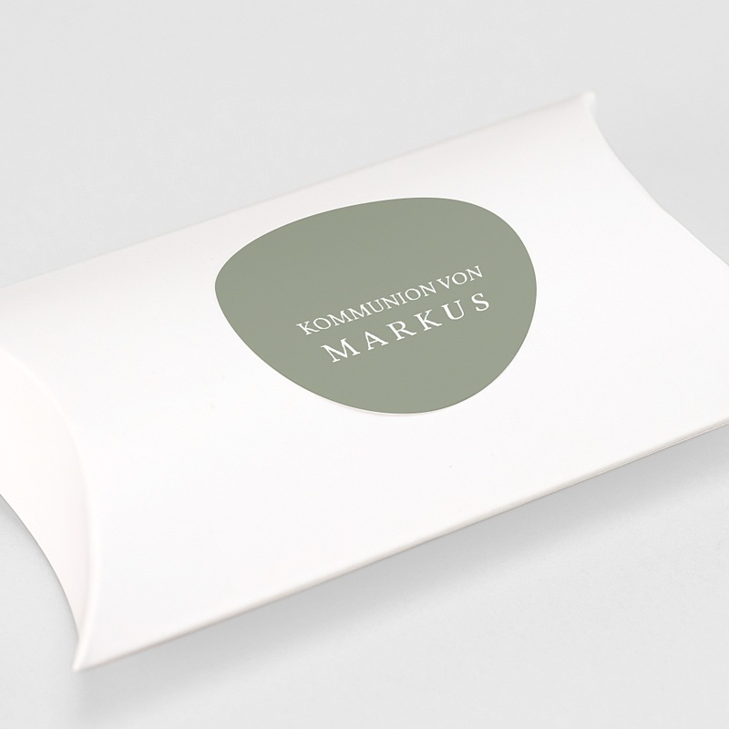 Aufkleber Kommunion Olivengrün, 4,5 cm gratuit