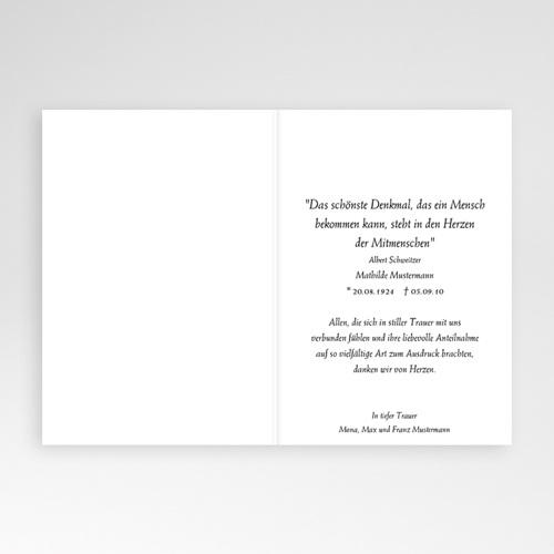 Trauer Danksagung christlich - Trauerkarte Christ 8515 preview