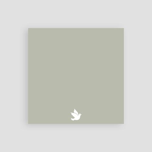 Aufgeschobene Taufekarten Symbol Taube, geändertes Datum, 10 x 10 pas cher
