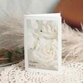 Kondolenzkarten Herzliches Beileid weiße Rosen