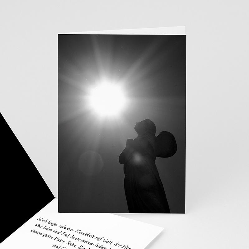 Weltlich Dankeskarten Trauer Lichtblick - schwarz / weiß