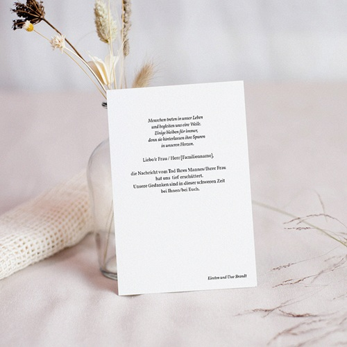 Kondolenzkarten Beileidskarte zerbrechliche Mohnblüten 10 cm x 14 cm pas cher