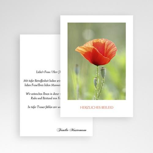Kondolenzkarten Herzliches Beileid Mohnblume pas cher