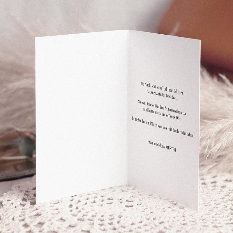 Kondolenzkarten Lilienstrauß, 10,5 cm x 15 cm pas cher