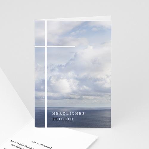 Kondolenzkarten Meer und weite Sicht