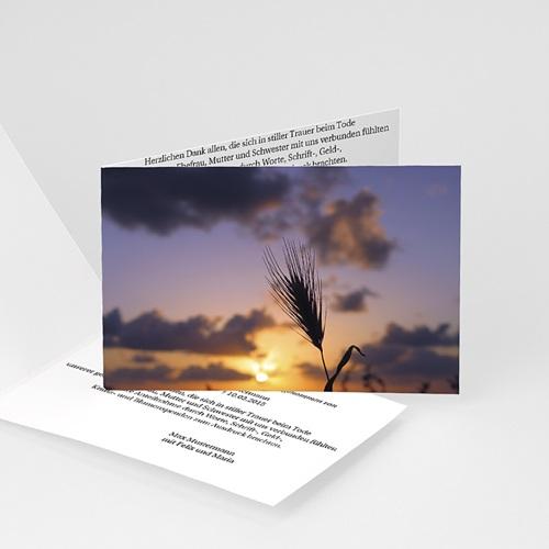 Weltlich Dankeskarten Trauer Landschaft mit Weizen