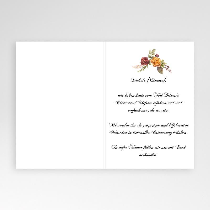 Kondolenzkarten Blumenkreuz, herzliches Beileid pas cher