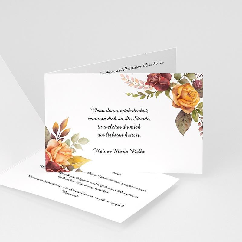 Kondolenzkarten Allerheiligenblumen, 15 cm x 10 cm