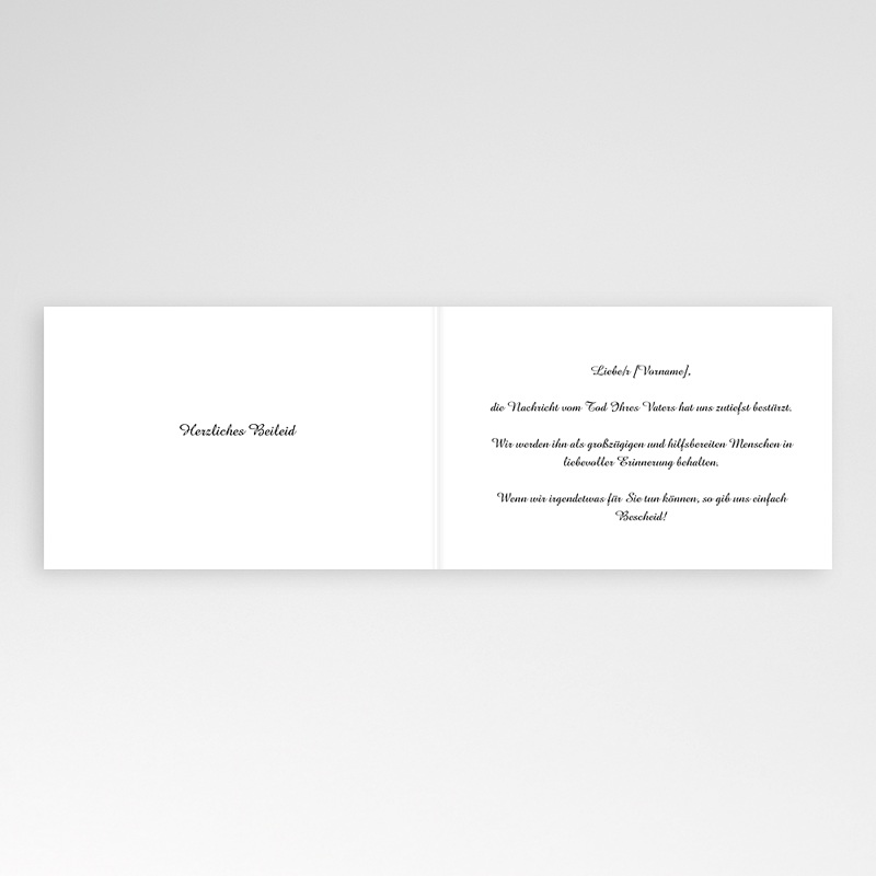 Kondolenzkarten Allerheiligenblumen, 15 cm x 10 cm pas cher
