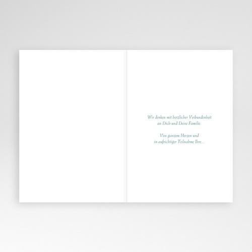 Kondolenzkarten Kreuz und Hortensien, Anteilnahme pas cher