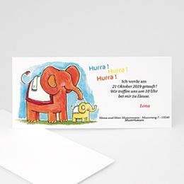 Karten Taufe Elefantendusche