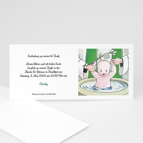 Einladungskarten Taufe Mädchen - Becken 8554