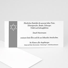 Trauer Danksagung israelitisch - Unser Stern im Himmel von Israel - 1