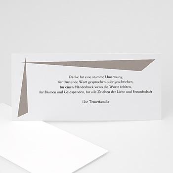 Trauer Danksagung weltlich - Trauerkarte grau - 1