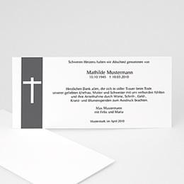 Karten Décès Chrétien Kreuzzeichen