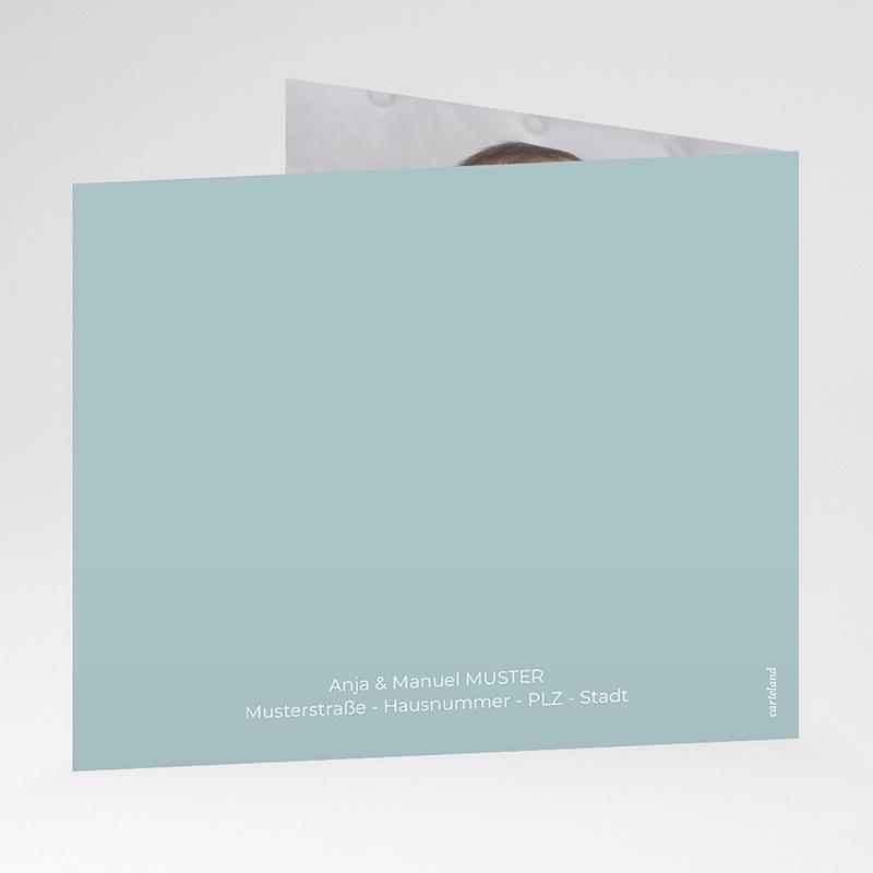 Zivil Einladungskarten Taufe Taube, Blumenband, blau gratuit