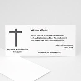 Karten Décès Chrétien Schlichtes Kreuz