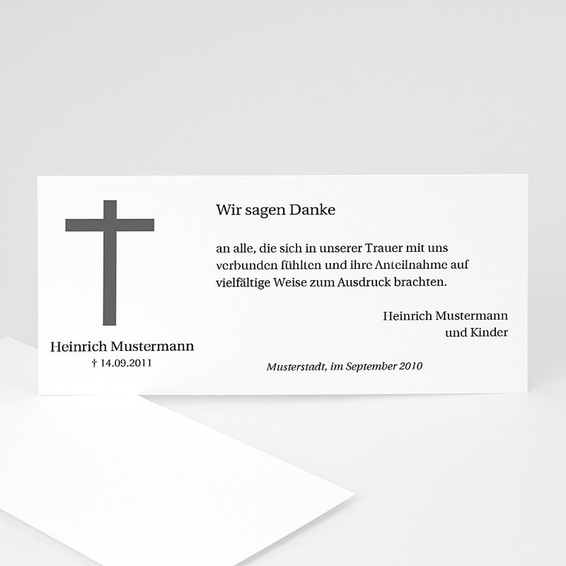 Christlich Dankeskarten Trauer Schlichtes Kreuz