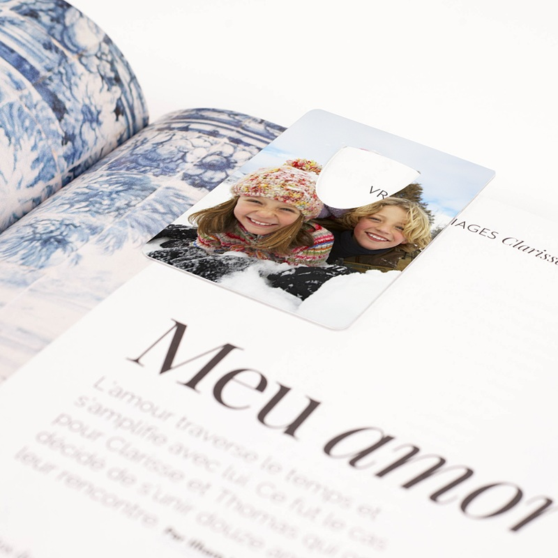 Personalisierte Lesezeichen Mein Foto  pas cher