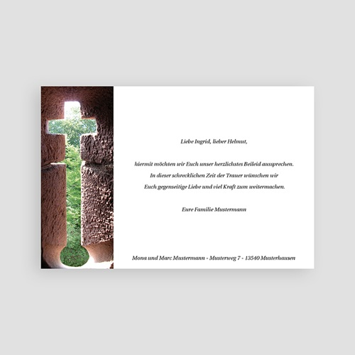 Christlich Dankeskarten Trauer Kreuz der Hoffnung pas cher