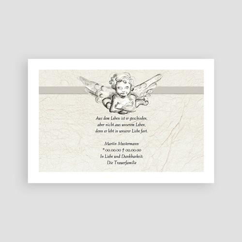 Dankeskarten Trauer Engelshänden pas cher