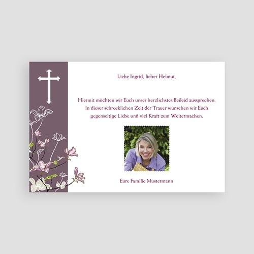 Christlich Dankeskarten Trauer Violett pas cher
