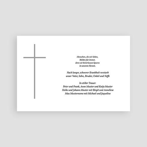 Christlich Dankeskarten Trauer Graues Kreuz pas cher