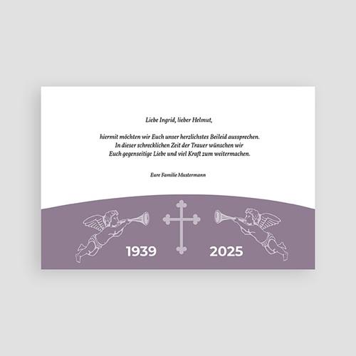 Christlich Dankeskarten Trauer Banderole pas cher