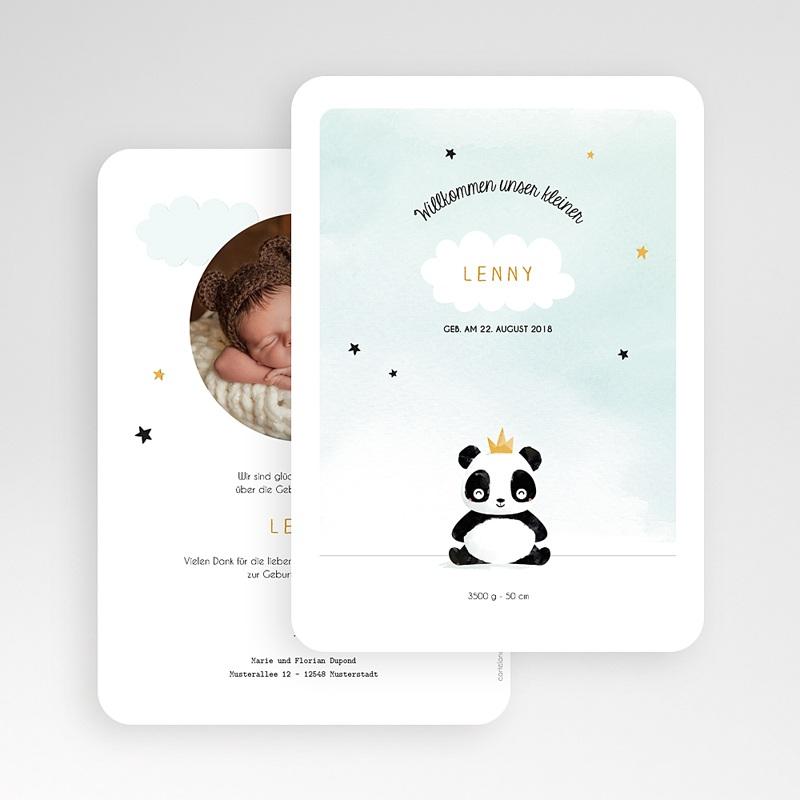 Geburtskarten mit Tieren kleiner Pandabär gratuit